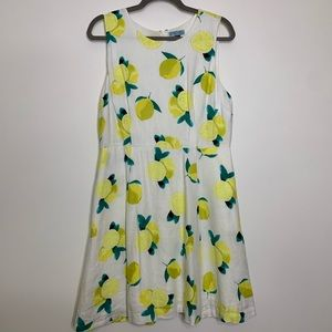 Cynthia Rowley fit and flare dress linen lemon 14